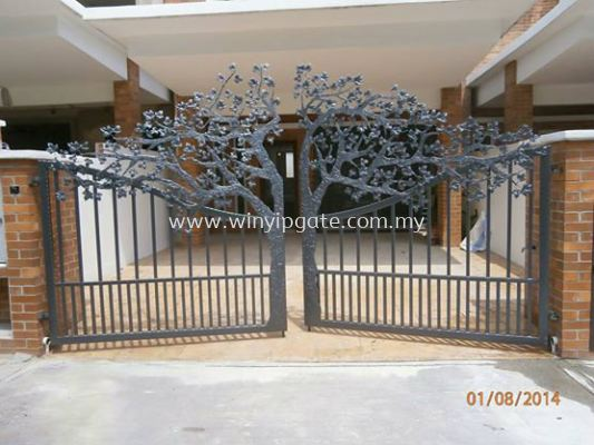 Wrought Iron Swam Main Gate
