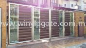 Stainless Steel 13F Folding Gate and Aluminum Wood Plate @ Tempered Stainless Steel 13F Folding Gate and Aluminum Wood Plate @ Tempered