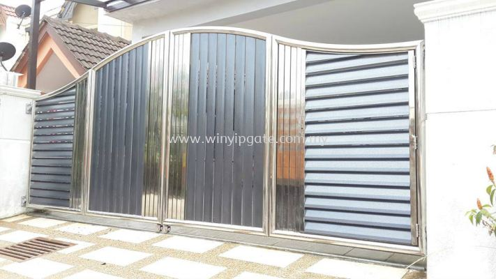 Stainless Steel Folding Gate and Fully Aluminum Plate