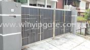 Stainless Steel Swam Main Gate and Aluminum Wood Plate Size 14'-0 Stainless Steel Swam Main Gate and Aluminum Wood Plate Size