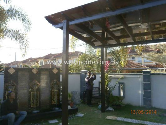Temper Wood Pergola and New Model Ployclass 6mm