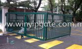 Glen Eagle Hospital Main Gate 26' Folding Gate and Powder Coated Glen Eagle Hospital Main Gate / Folding Gate and Powder Coated