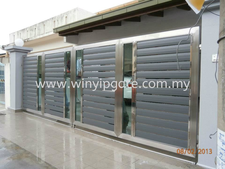 Stainless Steel Folding Gate 16 And Aluminum Plate