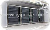 Stainless Steel Folding Gate 16' and Aluminum Plate Stainless Steel Folding Gate and Aluminum Plate