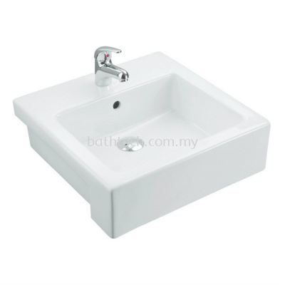 Trezzo 480 Semi-Recessed Basin