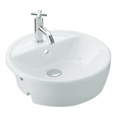 Basel Semi-Recessed Basin