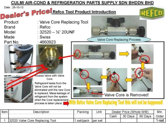 "Refco 32520-1/2""-20UNF Valve Core Replacing Tool"