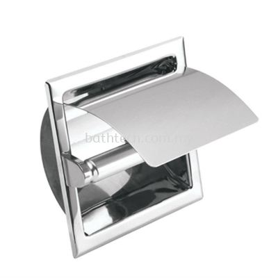 Commercial Semi-Recessed Toilet Roll Holder With Cover (100127)
