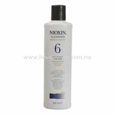 Nioxin System 6 Cleanser (300ml) New