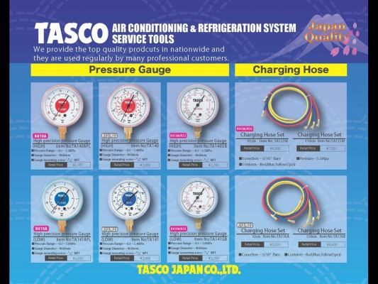 TASCO Pressure Gauge and Charging Hose