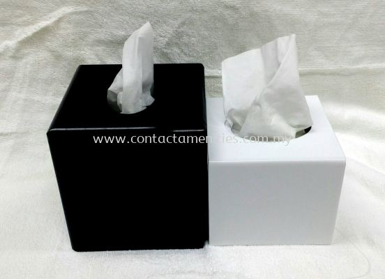 Acrylic SQ Tissue Box Cover