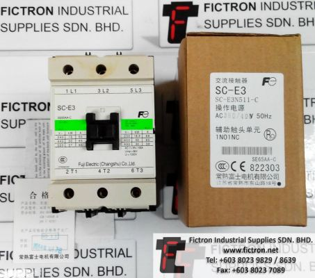 SC-E3N511-C FUJI ELECTRIC 65A Contactor Supply Malaysia Singapore Thailand Indonesia Vietnam