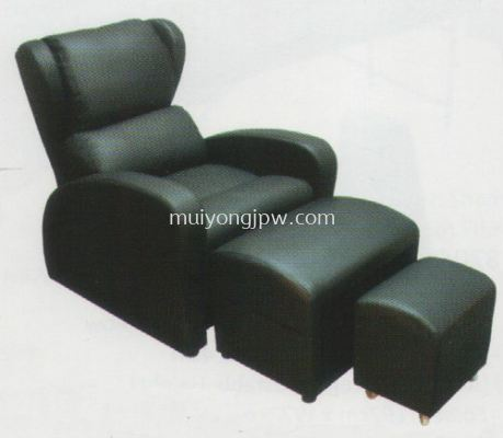4584 Electric Foot Reflexology Chair with Leg Rest & Stool