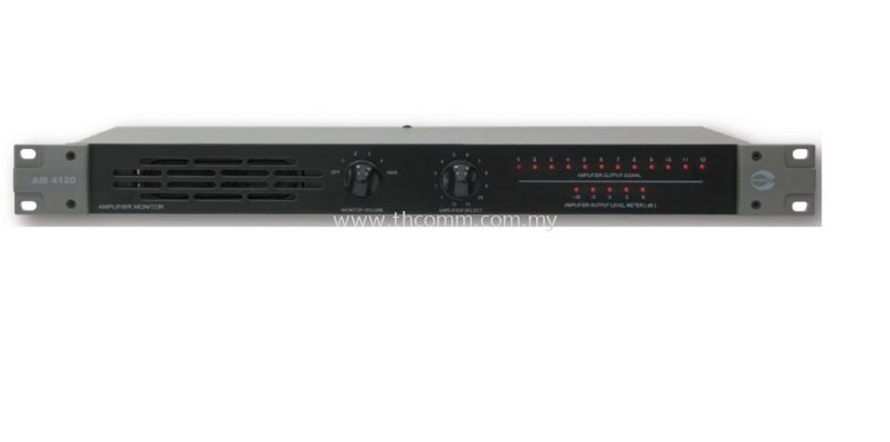 AM4120  12 CH AMPLIFIER MONITOR PANEL