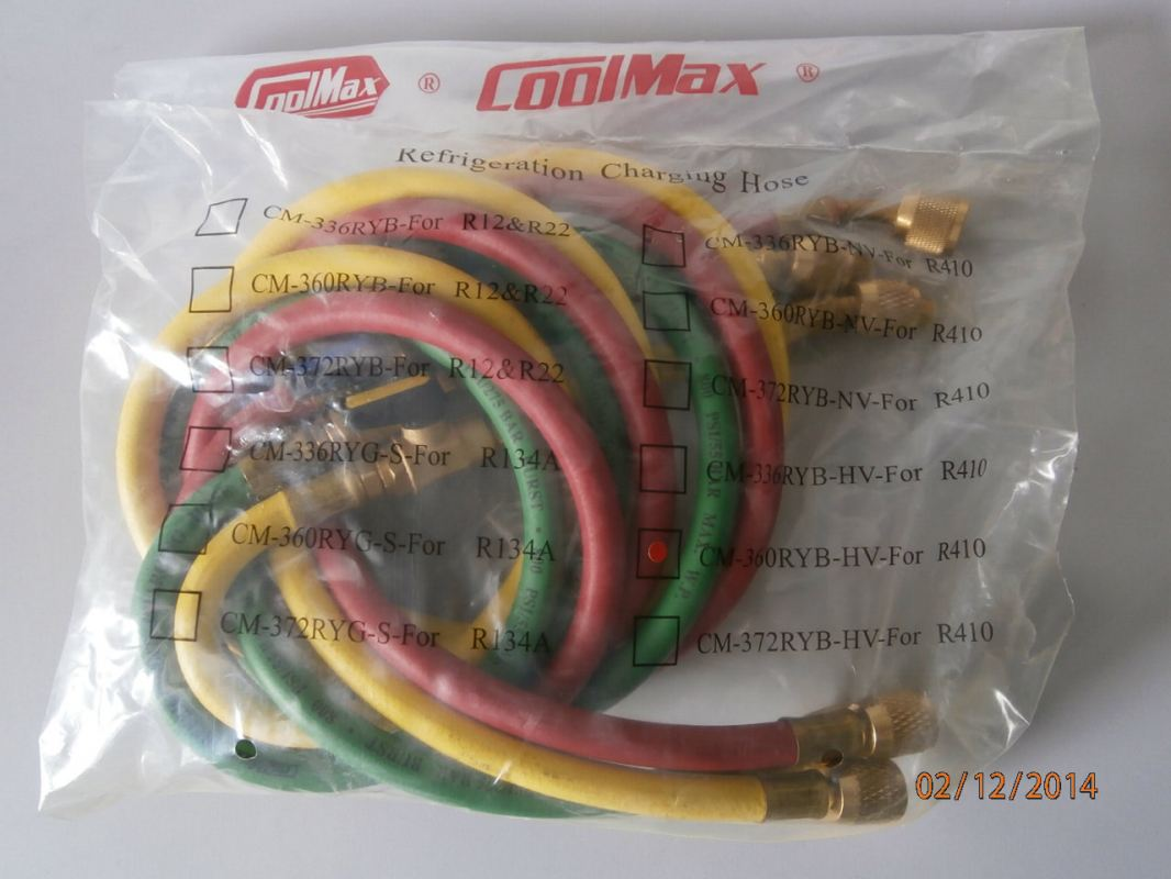 COOLMAX CM-360-RYB-HV 5FT CHARGING HOSE (3PCS/SET) FOR R410A COOLMAX Pressure Test Equipment and Accessories Subang Jaya, Selangor, Kuala Lumpur (KL), Malaysia. Supplier, Supplies, Manufacturer, Wholesaler | Culmi Air-Cond & Refrigeration Parts Supply Sdn Bhd