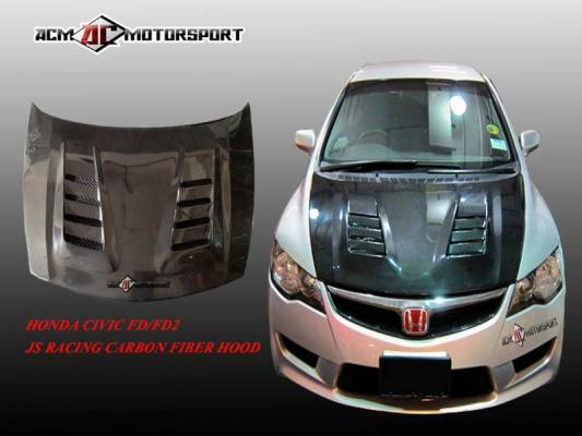 Honda Civic FD Js Carbon Hood