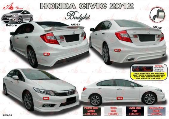 Honda Civic FB 2012 AM Style Bodykit