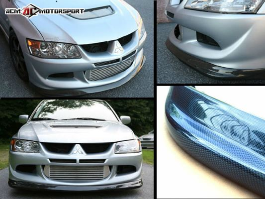 Mitsubishi Lancer EVO 8 Ralliart Carbon Front Lips