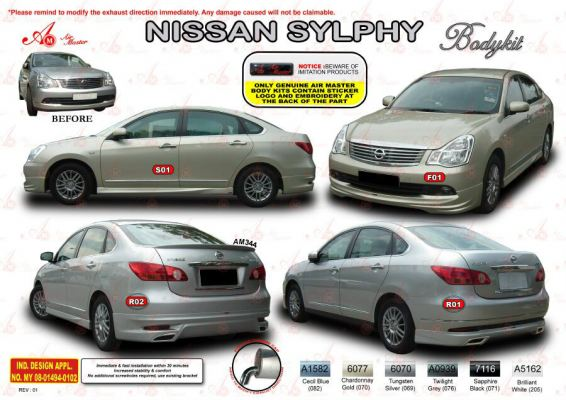 Nissan Sylphy AM Style Bodykit