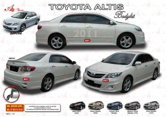 Toyota Altis Bodykit 2011 AM Style