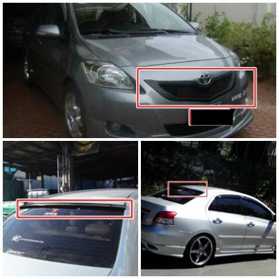Toyota Vios TRD Front Grill and Roof Spoiler