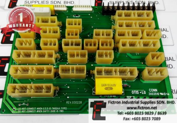 Repair Service in Malaysia - OTIS LG CONN 3X03510 Elevator PCB Singapore Indonesia Thailand