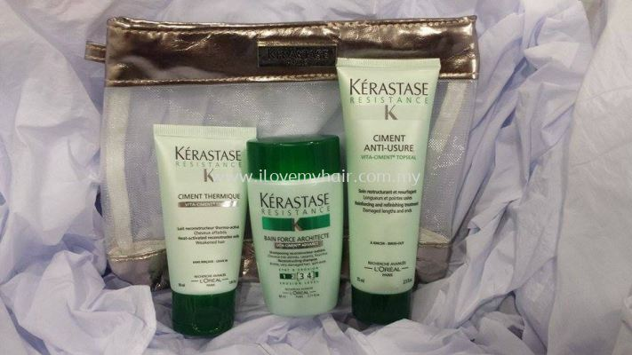 kerastase Resistance Travel Kit (For Split Ends & Damaged Hair)