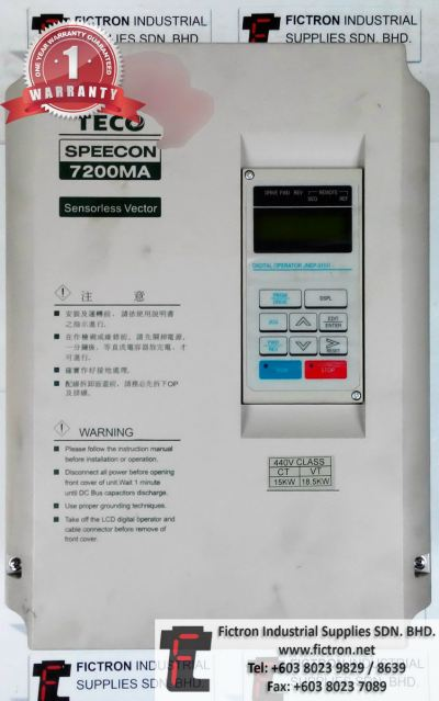 Repair Service in Malaysia - HA-675-4-200 FHA-40C-100-E250-C TECO SPEECON 7200MA Inverter