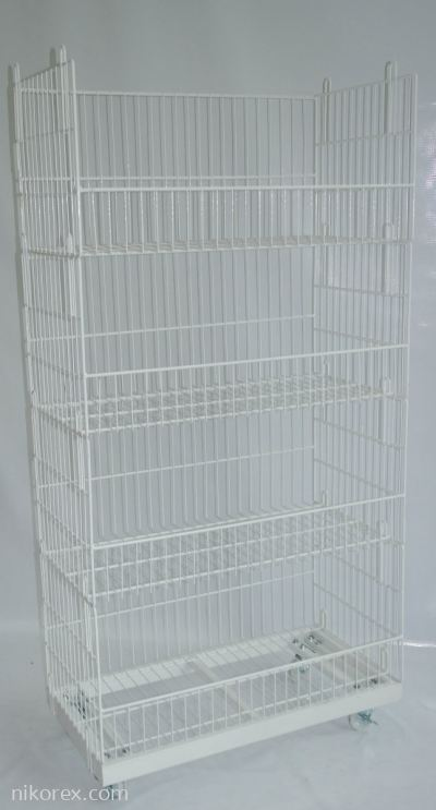 20761 & 20763-SQUARE BASKET C/W BASE & ROLLER