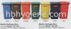BP120 & BP240 (120lit & 240lit Mobile Garbage Bins) Outdoor Garbage Bin Waste Bins