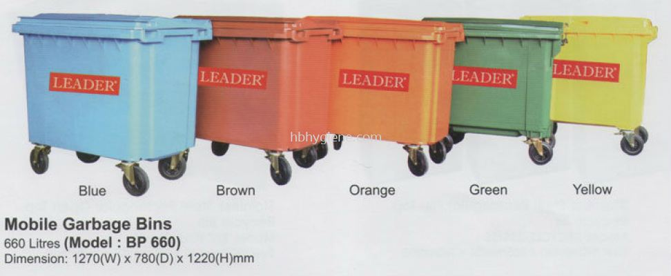 BP660 (660lit Mobile Garbage Bins)