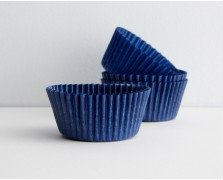 Navy Blue Baking Cups