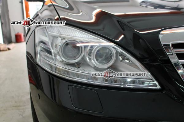 Mercedes benz W221 facelift head light conversion