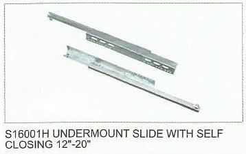 S16001H UNDERMOUNT SLIDE WITH SELF CLOSING 12'-20'