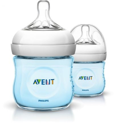 AVENT 125ML PP NATURAL BTL (TWIN) BLUE(SCF692/23)