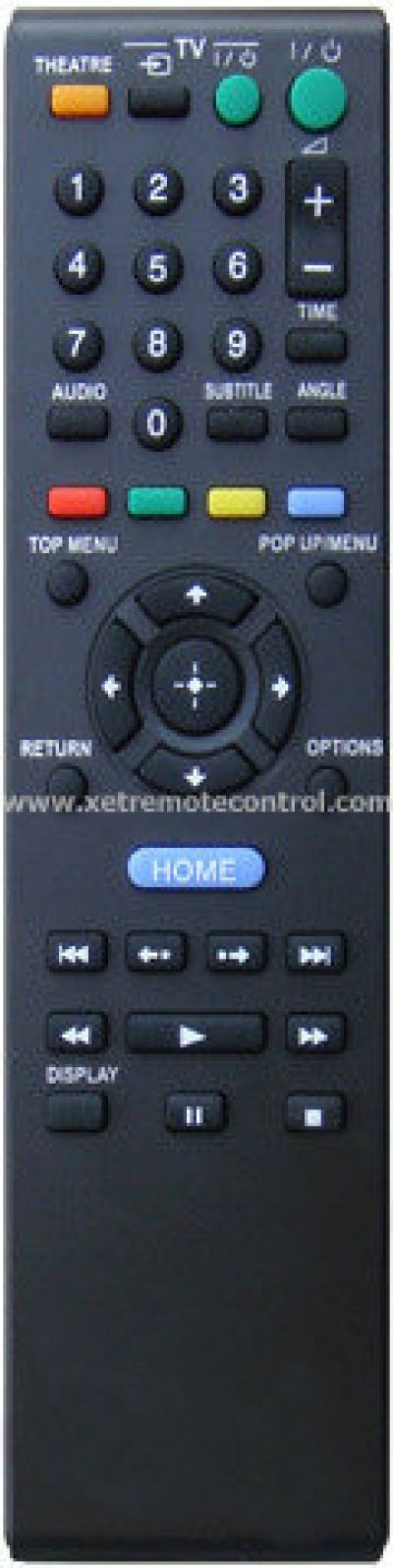 RMT-D109P SONY BLU-RAY DVD REMOTE CONTROL