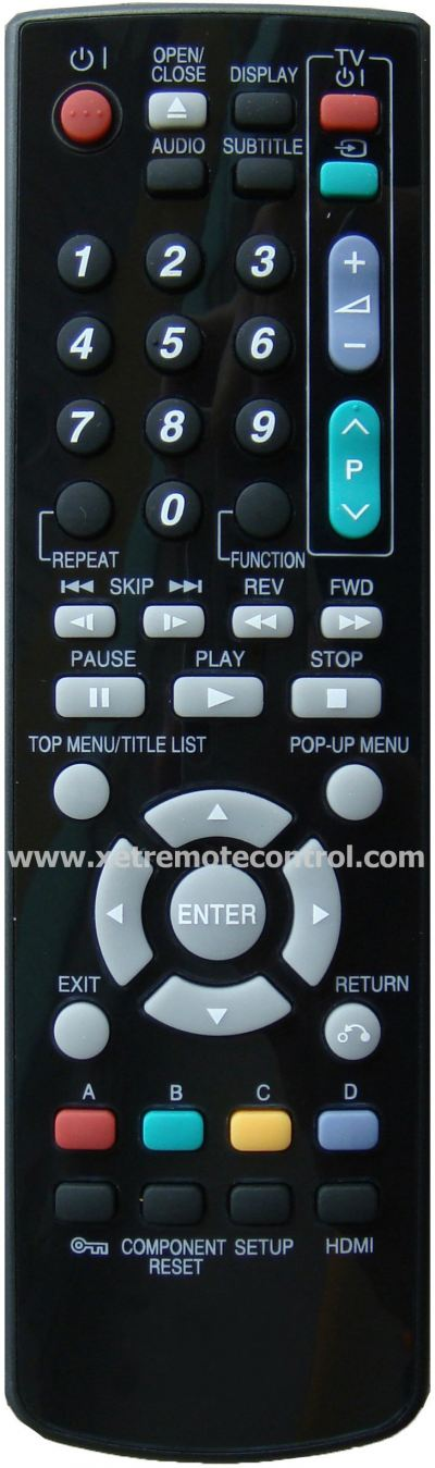 GA940WJPA-0714 SHARP BLU-RAY DVD REMOTE CONTROL