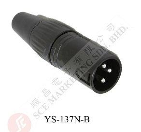 XLR PLUG YS-137N-B