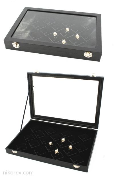 19099-PENDANT & RING TRAY COVER-DIAMOND 24X35CM