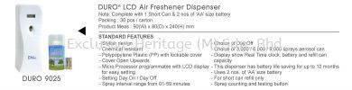 DURO 9025 LED Freshener Dispenser x 1 Set AIR FRESHENER DISPENSER AIR FRESHENER DISPENSER AND REFILL