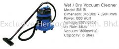 SM 15 WET AND DRY VACUUM CLEANER CLEANING MACHINE