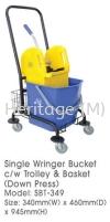 SBT-349 SINGLE WRINGER BUCKET CLEANING TROLLEYS