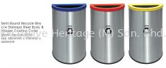 Recycle-140SS STAINLESS STEEL ROUND RECYCLE BINS Mild Steel Powder Coating Recycle Bin