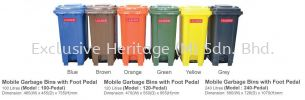 120-Pedal MOBILE GARBAGE BINS WITH FOOT PEDAL MOBILE GARBAGE BINS AND FOOT PEDAL BINS