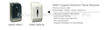 DURO 9005-W BATHROOM AND TISSUE DISPENSER PAPER TOWEL AND TISSUE DISPENSER