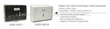 DURO 9001-W MULTI FOLD HAND TOWEL DISPENSER PAPER TOWEL AND TISSUE DISPENSER