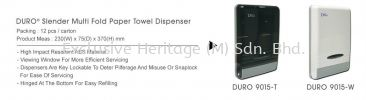 DURO 9015-T MULTI FOLD HAND TOWEL DISPENSER PAPER TOWEL AND TISSUE DISPENSER