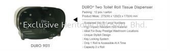 DURO 9011 ROLL TISSUE DISPENSER PAPER TOWEL AND TISSUE DISPENSER