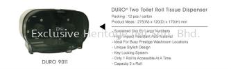 DURO 9011 ROLL TISSUE DISPENSER PAPER TOWEL AND TISSUE DISPENSER