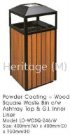 LD-WOSQ-246W POWDER COATING WITH WOOD WASTE OUTDOOR BINS POWDER COATING AND WOOD WASTE BINS